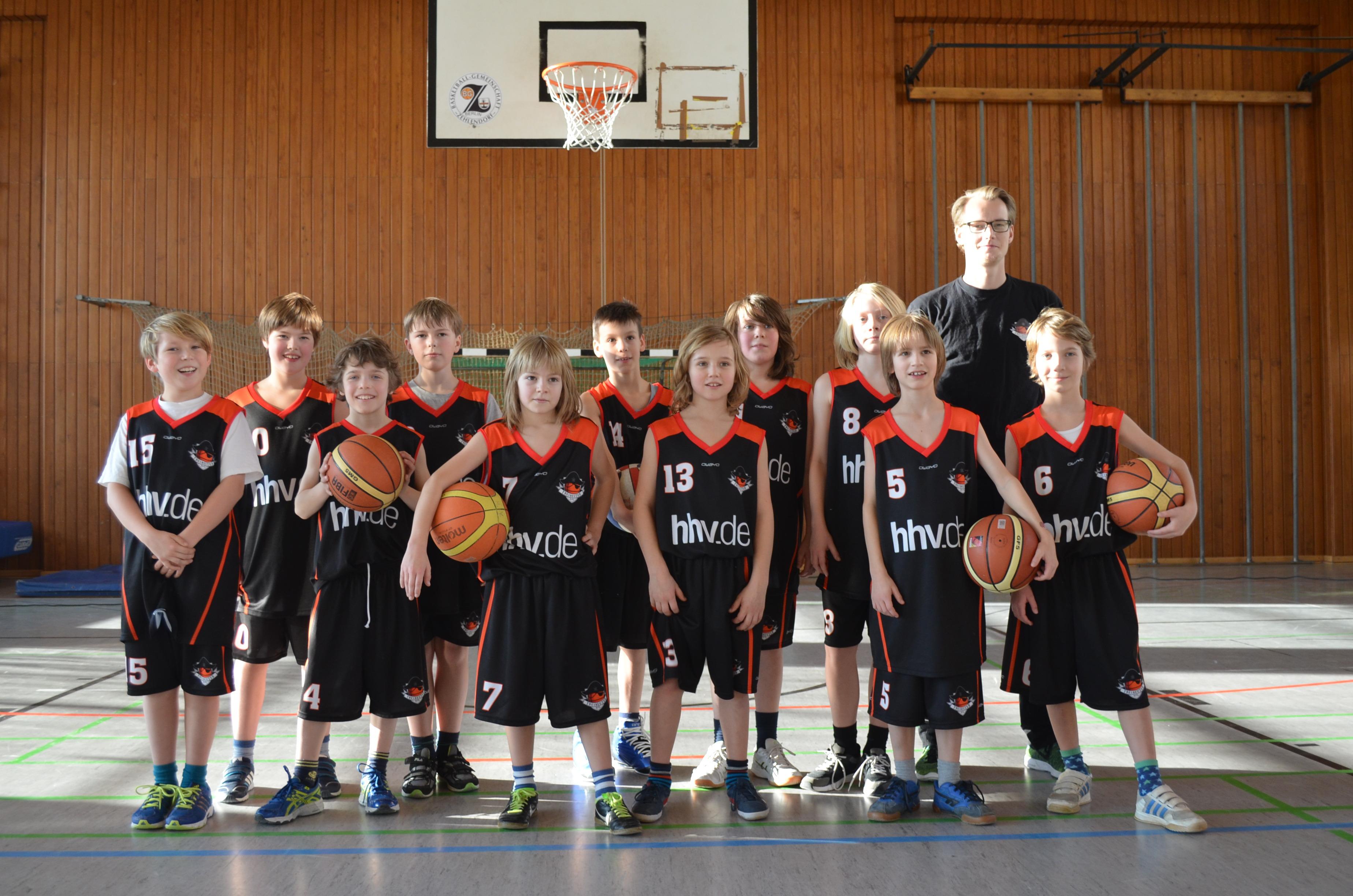 das jüngste Basketballteam in Friedrichshain